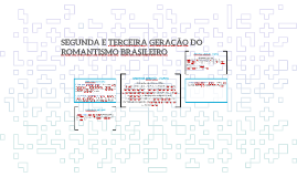 SEGUNDA E TERCEIRA GERAÇÃO DO ROMANTISMO BRASILEIRO