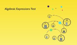 Algebraic Expressions Test