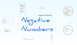 Copy of Negative Numbers