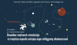 Dinamikus rendszerek szimulációja és irányítása kauzális ent