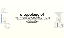 Types of Faith-Based Programs