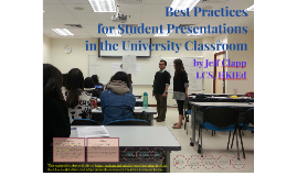 Best Practices for Student Presentations