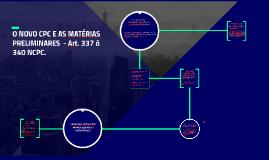 Copy of O NOVO CPC E AS MATÉRIAS PRELIMINARES