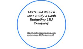 case study 3 cash budget