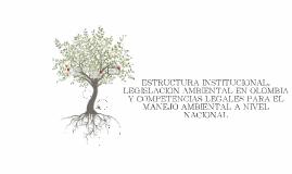 ESTRUCTURA INSTITUCIONAL, LEGISLACION AMBIENTAL EN OLOMBIA Y