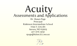 Effective Applications for Acuity
