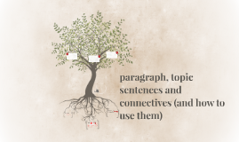 paragraph, topic sentences and connectives (and how to use t