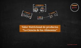 """Proyecto """"La ciencia de los Alimentos"""""""