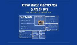 Rising 12th Grade Registration Presentation-Class of 2017