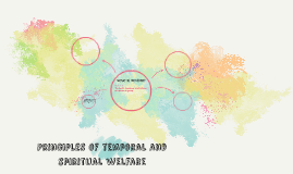Principles of temporal and spiritual welfare