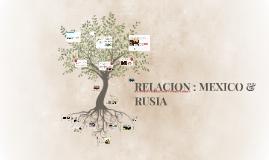 RELACION BILATERAL MEXICO & RUSIA