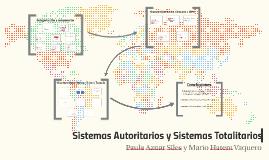 Regímenes Autoritarios y Sistemas Totalitarios