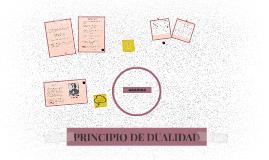 PRINCIPÍO DE DUALIDAD