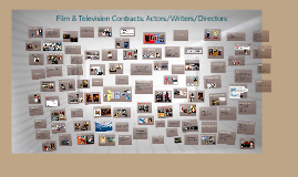 Copy of 2015 Talent Contracts: Writers/Actors/Directors