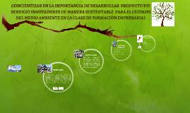 CONCIENTIZAR EN LA IMPORTANCIA DE DESARROLLAR  PRODUCTO Y/O