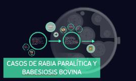 Casos de rabia paralítica y babesiosis bovina
