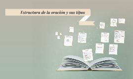 Estructura de la oración y sus tipos