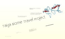 Copy of Taiga Biome Travel Project!