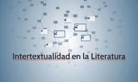 Intertextualidad en la Literatura