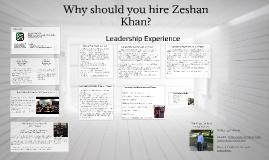 """Zeshan Khan """"Prezume"""""""
