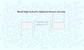 Mead High School's National Honors Society