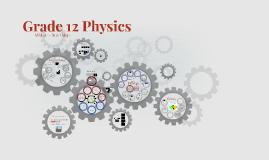 Grade 12 College Physics