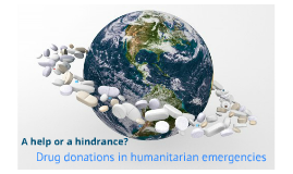 drug donations in emergencies