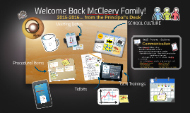 Welcome Back McCLeery Family!