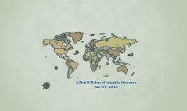 Scientific Literature:  Historical