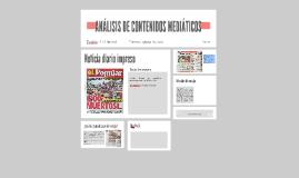 Noticia diario impreso