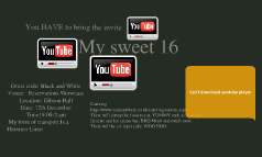 My sweet  16