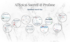 ATS3636 Sacred & Profane: Database Search Tips