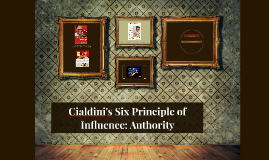 Cialdini's Six Principle of Influence: Authority