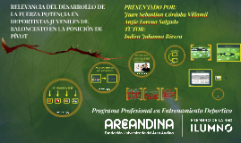 RELEVANCIA DEL DESARROLLO DE LA FUERZA POTENCIA EN DEPORTIST