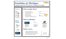 Portfolios @ Michigan:  Piloting Google Sites