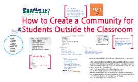 How to Create a Community for Students Outside the Classroom