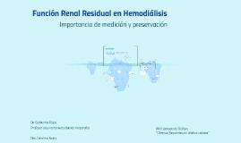 Función Renal Residual en Hemodiálisis