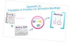 Appendix A Effective Meetings