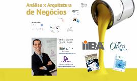 Análise x Arquitetura de Negócios