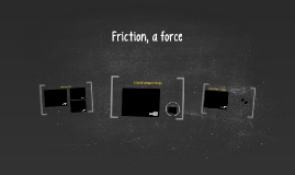Friction, a force