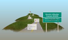 Generic & Elective Courses