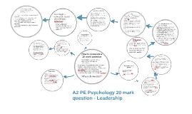 A2 PE Psychology 20 mark question - Leadership