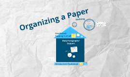 Organizing a Paper