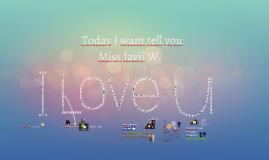 To Miss Javii