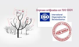 Copy of Empresas certificadas con iso 9004