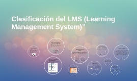 """Clasificación del LMS (Learning Management System)"""""""