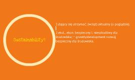 Sustainability?