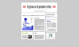 Arginina en el paciente critico