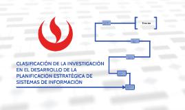 CLASIFICACIÓN DE LA INVESTIGACIÓN EN EL DESARROLLO DE LA PLA