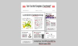 Faut-il un droit Européen à l'avortement?